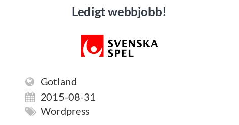 Black Friday Svenska Spel